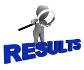 Results Character Shows Improvement Result Or Outcome — Stock Photo