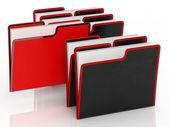 Fichiers, ce qui signifie l'organisation et la paperasserie — Photo