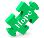 Hope Jigsaw Shows Hoping Hopeful Wishing Or Wishful — Stock Photo