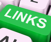 Links Key Shows Backinks Linking And Seo — Stock Photo