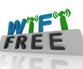 Free W-ifi Shows Web Connection And Mobile Hotspots — Stock Photo