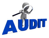Audit Character Means Validation Auditor Or Scrutin — Stock Photo
