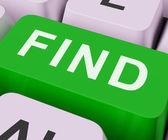 Najít klíčové pořady hledání objev nebo hledáte online — Stock fotografie