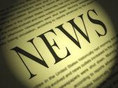 Periódico muestra titulares y los medios de comunicación periodismo periódicos — Foto de Stock