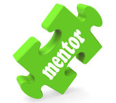 Mentor Puzzle Shows Advice Mentoring And Mentors — Stock Photo