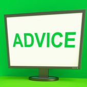Advice Screen Means Guidance Advise Recommend Or Suggest — Stock Photo