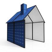 Solar Panel House Showing Renewable Energy — Stock Photo