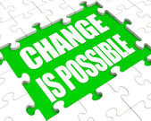 Change Is Possible Puzzle Shows Possibility Of Changing — Stock Photo