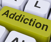 Addiction Key Means Obsessio — Stock Photo