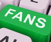 Fans Key Shows Follower Or Internet Fan — Stock Photo