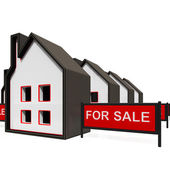 For Sale Sign On House — Stock Photo