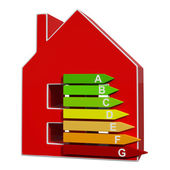 Energy Efficiency Rating Icon Meaning Efficient House — Stock Photo