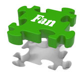 Fan Jigsaw Shows Online Follower Likes Or Internet Fans — Stock Photo