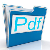 Pdf File Shows Documents Format Or Files — Stock Photo