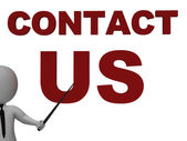 Contact Us Sign Meaning Helpdesk — Stock Photo