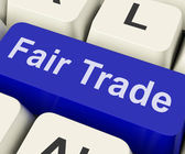 Fairtrade Key Shows Fair Trade Product Or Products — Stock Photo