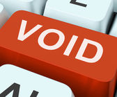 Void Key Shows Invalid Or Invalidated Contract — Stock Photo
