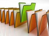 Filer betyder organisering och pappersarbete — Stockfoto