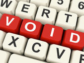 Void Keys Show Invalid Or Invalidated Online — Stock Photo