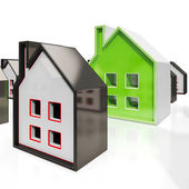 House Symbols Meaning Property For Sale — Stock Photo