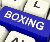 Box klíčové ukázat boj nebo punchin — Stock fotografie