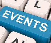 Events Key Means Occasion Or Inciden — Stockfoto