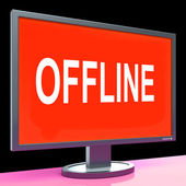 Offline Screen Shows Internet Communication Status Disconnected — Stock Photo