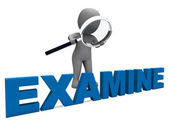Examine Character Shows Examination Examining And Scrutiny — Stock Photo