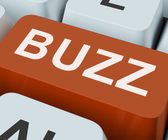 Buzz Key Shows Awareness Exposure And Publicity — Stock Photo