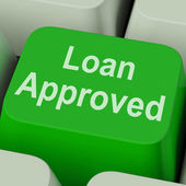 Loan Approved Key Shows Credit Lending Agreement — Stock Photo