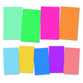 Four And Five Blank Paper Slips Show Copyspace For 4 Or 5 Letter — Stock Photo