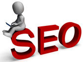 Seo Shows Search Engine Optimization — Stock Photo