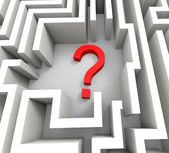 Question Mark In Maze Shows Thinking — Stock Photo