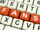 Fans Keys Show Follower Or Internet Friend — Stock Photo