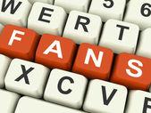 Fans Keys Show Follower Or Internet Friend — Stock Photo
