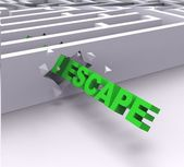 Escape From Maze Shows Liberated — Stock Photo