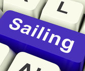 Sailing Key Means Voyage Or Travel By Wate — Stock Photo