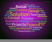 Solution Words Shows Success Resolution Solving And Solved — Stock Photo