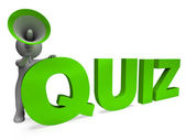 Quiz Character Means Test Questions Answers Or Questioning — Stock Photo