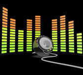 Graphic Equalizer Shows Pop Music Or Audio Speaker — Stock Photo