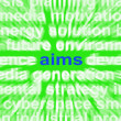 Stock Photo: Aims Word Means Purpose Direction And Goals
