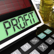 Stock Photo: Profit Calculator Shows Surplus Earnings And Returns