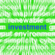 Stock Photo: Investment Word Means Lending And Investing For Return