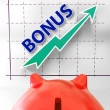 Bonus Graph Means Higher Premiums And Rewards — Stock Photo #40854955