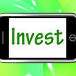 Invest Smartphone Shows Internet Investment And Returns — Stock Photo #40855021