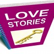 Love Stories Book Gives Tales of Romantic and loving Feelings — Stock Photo #40855149