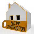 New Construction House Means Brand New Home Or Building — Stock Photo