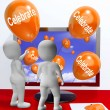 Celebrate Balloons MeParties and Celebrations Online — Stock Photo #40855329