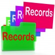 Stock Photo: Records Folders Show Files Reports And Evidence