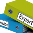 Expert Novice Folders MeLearner And Advanced — Stock Photo #40856303
